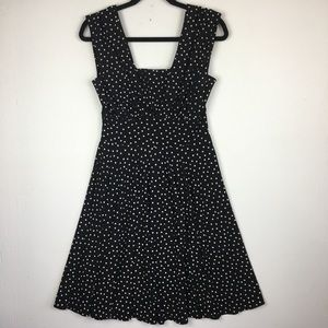White House Black Market Black White Retro Dress